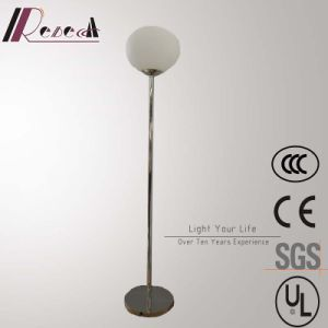 Modern Hotel Decorative Stainless Steel Round Glass Ball Standing Floor Lamp pictures & photos