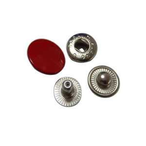 Round Red Costomized Metal Button Manufactory pictures & photos