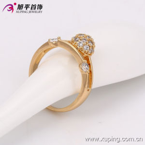 13534 Fashion Women Elegant Zircon 18k Gold-Plated Imitation Jewelry Finger Ring in Copper Alloy pictures & photos
