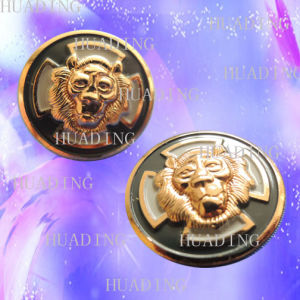 Custom Logo Metal Alloy Jean Shank Button with Garment (SK00452) pictures & photos