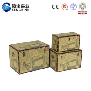 Three-Piece London & Butterfly Canvas Storage Box (SCST00086)