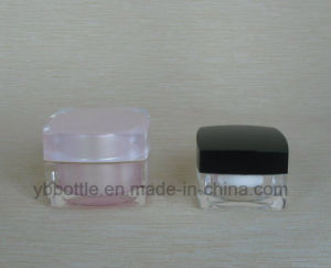 5g Square Acrylic Cosmetic Cream Jar, Nail Hel Jar pictures & photos