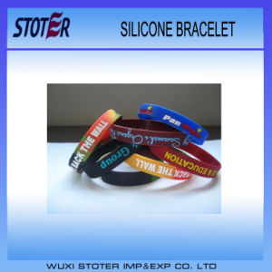 Hot Sale Promotional Customized Logo Funny Silicone Wristband pictures & photos