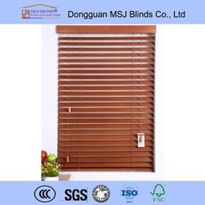 High Profile Metal Head Rail Basswood UV Coating Blinds pictures & photos