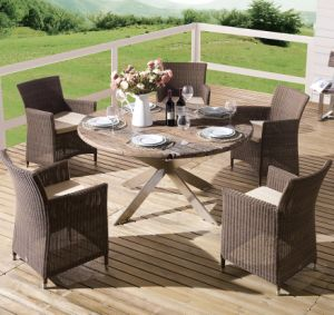 Outdoor Wicker Patio Furniture Cancun Garden Rattan Home Hotel Office Chair  And Table (J375R)