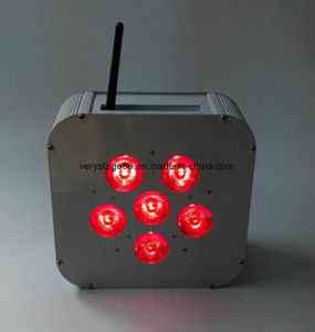 Slim RGBW 6PCS 10W LED Wireless Flat PAR Light pictures & photos