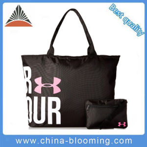 Black Polyester Carry Shoulder Recycle Shopping Tote Handbag Bag pictures & photos