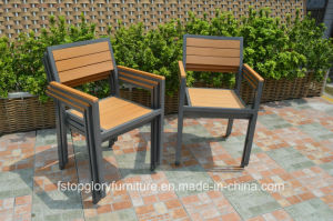 2017 New Design Plastic Wood Dining Table and Chair Outdoor Furniture Set pictures & photos