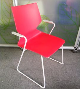 High Quality Stackable Steel Plastic Multi-Color Dining Chair pictures & photos