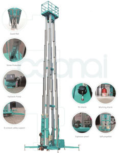 Quadruple Mast Hydraulic Lift for Aerial Work pictures & photos