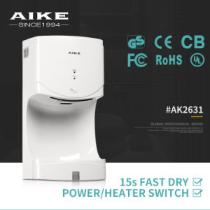 Wall Mounted Automatic High Speed Toilet Bathroom 1400W Sensor Hand Dryer AK2631 pictures & photos