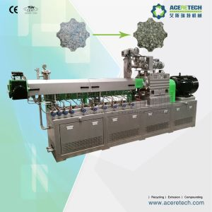 High Efficiency Twin Screw Extruder and Pelletizing Machine for Pet Flakes/Regrinds pictures & photos
