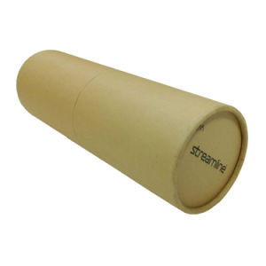 Custom Brown Kraft Cardboard Tube with Lid pictures & photos