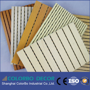 Low Frequency Absorb Wooden Grooved Acoustic Wall Panel pictures & photos