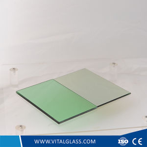 6mm Light/French Green Reflective Glass for Building pictures & photos