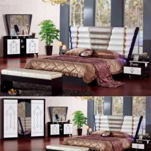 Bedroom Furniture Set with Classic Bed and Wardrobe (3361) pictures & photos