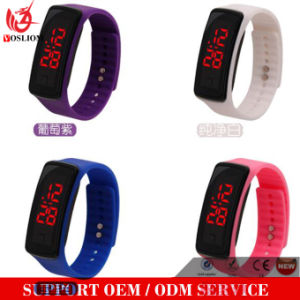 Yxl-147 Hot Selling Mens Womens Rubber LED Watch Date Sports Bracelet Digital Wrist Watch pictures & photos