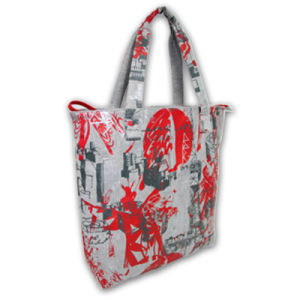 Fashion Lady′s Handbags with Colorful Printing Pattern pictures & photos