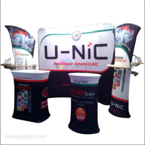 Custom Printing Stretch Fabric Tradeshow Booth Pop Up Display Stand pictures & photos
