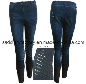 Denim Horse Riding Breeches Jodhpurs for Women (B68) pictures & photos