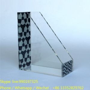 Custom Office Acrylic Desk Book Stand with UV Logo pictures & photos