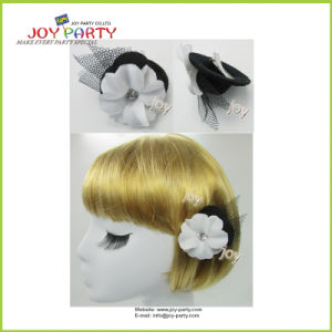 White Lady Hair Clip with Flower