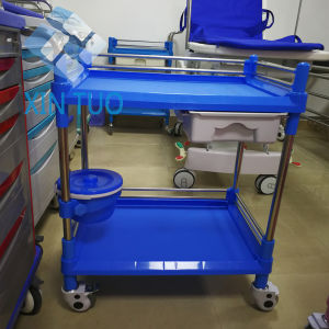 Factory Direct Price Hospital Crash Trolley Medical Hospital ABS Hand Nursing Trolley pictures & photos
