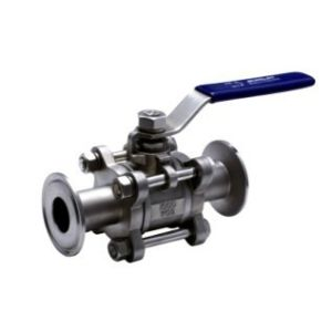 3PC DIN/SMS Sanitary Clamped Ball Valve with Handle