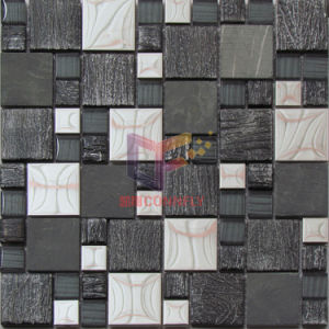 Stone Mix Metal and Crystal Mosaic (CFM944) pictures & photos