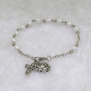 New Design Alloy Beads Rosary Bracelet with Cross Pendant (IO-CB132) pictures & photos