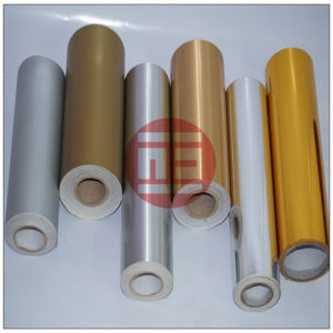 Silver and Gold Color Cutting Vinyl Film with Brushed Line.