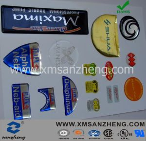 Weather Resistant Glossy Clear Colorful Different Design of Epoxy Resin Stickers pictures & photos
