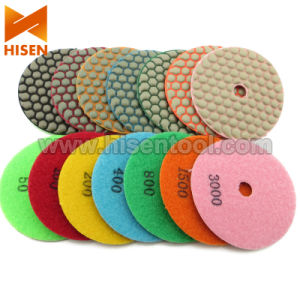 100mm Hook & Loop Back Dry Flexible Polishing Pads pictures & photos