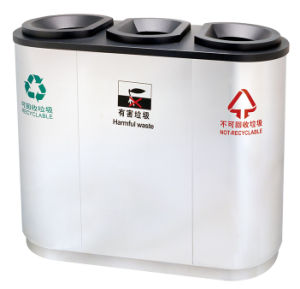 Stainless Steel Outdoor Eco-Friendly Dustbin (DL16) pictures & photos