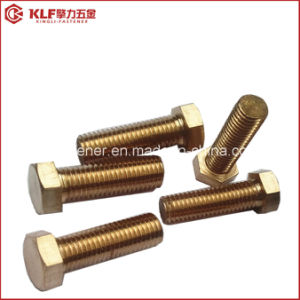 Brass Bolt DIN933 pictures & photos