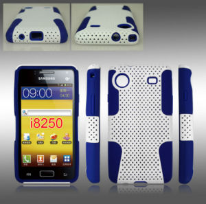 PC Outside Silicone Inside Cell/Mobile Phone Cover/Case for Samsung I8250 pictures & photos