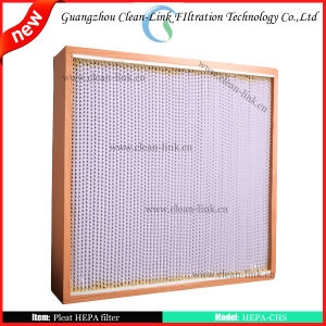 Wood Frame Pleat HEPA Filter pictures & photos