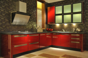 Furniture Parts High Gloss Acrylic Kitchen Cabinets (zv-013) pictures & photos