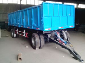 Agricultural Machine Factory Tractor Trailer Tandem/ 15ton Tipping Trailer pictures & photos