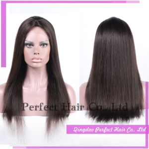 Full Lace Short Burgundy Bong Black Straight Hair Wig pictures & photos