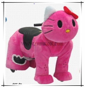 Pink Kitty Plush Animal Car Horse Ride Toy pictures & photos