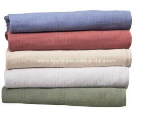 Woven Leno Weave Hospital Cotton Blanket pictures & photos