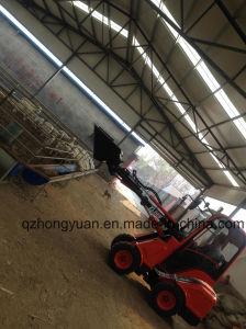 Telescopic Boom Mini Wheel Loader Zl08f Peking Euro III Engine for Animal Feeding pictures & photos