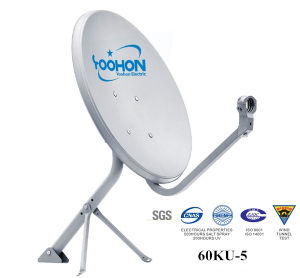 60cm Offset Ku Band Eurostar Satellite Dishes CE pictures & photos