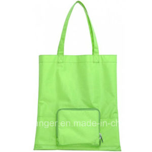 Promotional Recycled Polyester Shoulder Handle Bag Foldable Carrier Shopping Tote