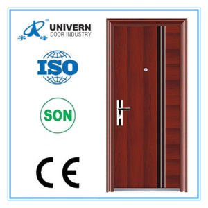 Made in China Cheapest Durable Red Walnut Steel Security Door pictures & photos