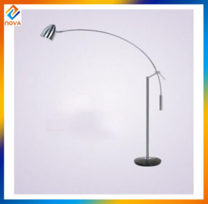 Silver Metal Floor Lamp with Lampshade pictures & photos