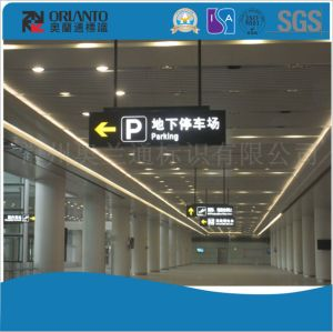 Aluminium Flat Train Station Parking LED Light Box pictures & photos