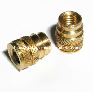 CNC Precision Brass Threaded Hot Melt Plastic Molding Inserts Nut pictures & photos