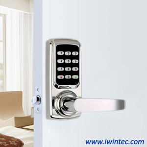 Keyless Electronic Password Door Lock, Password + Metal Key, Perfect for Office & Home (Gold) pictures & photos